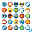 Modern Vector Flat Icons Set 2 — Stock Vector #52544611