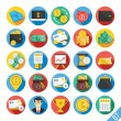 Modern Vector Flat Icons Set 7 — Stock Vector