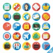 Modern Vector Flat Icons Set 9 — Stock Vector #52545009