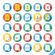 Modern Vector Flat Icons Set 17 — Stock Vector #52545409