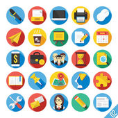 Modern Vector Flat Icons Set 2 — 图库矢量图片