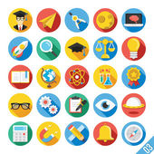 Iconos plano moderno vector set 3 — Vector de stock