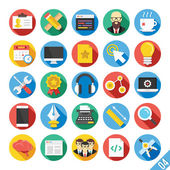 Iconos plano moderno vector set 4 — Vector de stock