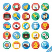 Modern Vector Flat Icons Set 5 — Stock Vector