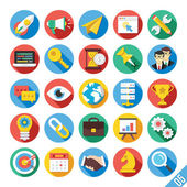 Modern Vector Flat Icons Set 5 — Stockvektor