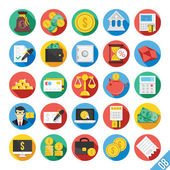 Iconos plano moderno vector set 8 — Vector de stock