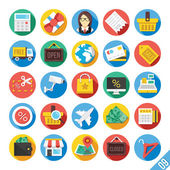 Iconos plano moderno vector set 9 — Vector de stock