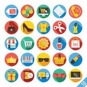 Iconos plano moderno vector set 10 — Vector de stock