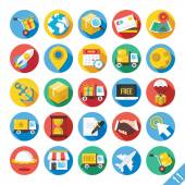 Modern Vector Flat Icons Set 11 — Stockvektor