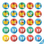 Modern Vector Flat Icons Set 12 — Stock Vector