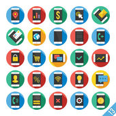 Modern Vector Flat Icons Set 13 — Stock Vector
