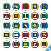 Modern Vector Flat Icons Set 14 — Wektor stockowy