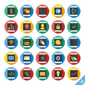 Modern Vector Flat Icons Set 14 — Vector de stock