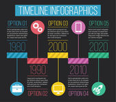 Vector Timeline Infographics 04 — Stock Vector