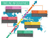 Vector Timeline Infographics 05 — Stock Vector