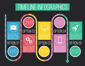 Vector Timeline Infographics 06 — Stock Vector
