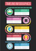 Vector Timeline Infographics 07 — Stock Vector