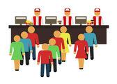 Stock vector cartoon flat fast food design icon set — Stock Vector