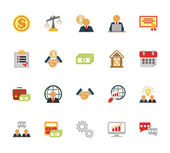 Vector business and finance management Icons set — Stock Vector