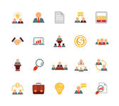 Stock vector team management color pictograph icon set — Stock Vector