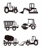 Stock vector construction machine pictogram icon set — Stock Vector