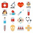Stock vector medicine flat icon set — Stock Vector #55930053