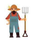 Farmer flat illustration — Stock Vector