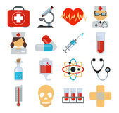 Stock vector medicine flat icon set — Stock Vector