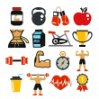 Vector sport and fitness icons set. — Stock Vector #57047279