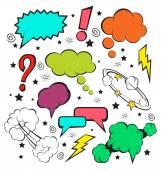 Vector comic speech bubbles set — Stock Vector