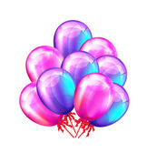 Party balloons. Vector illustration — Stock Vector