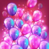 Balloons background. Vector illustration — Stock Vector