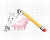 Piggy bank business illustration — Stock Vector