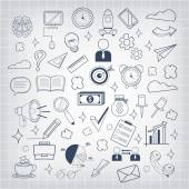 Vector business doodles icon — Stock Vector