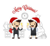 Christmas vector flat illustration — Stock Vector