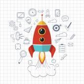 Vector flat start up illustration — Stock Vector