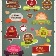 Vector Colorful Stickers Labels and Badges Set — Stock Vector #63850761