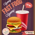 Fast food vector banner — Stock Vector #63851081