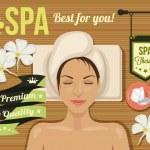 Vector spa banner — Stock Vector #63851459