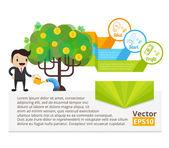 Business banner. Vector flat illustration — Stock Vector