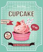 Cupcake vector banner — Stock Vector