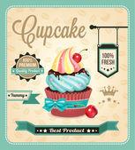 Cupcake vector banner. — Stock Vector