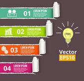 Paper vector banner — Stock Vector