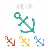 Vector anchor icons — Stock Vector