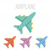 Vector airplane icons — Stock Vector