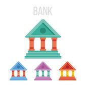 Vector bank icons — Stock Vector