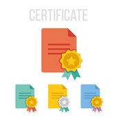 Vector certificate icons — Stock Vector