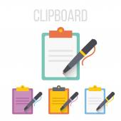 Vector clipboard icons — Stock Vector