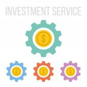 Vector investment service icons — Stock Vector