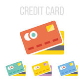 Vector credit card icons — Stock Vector